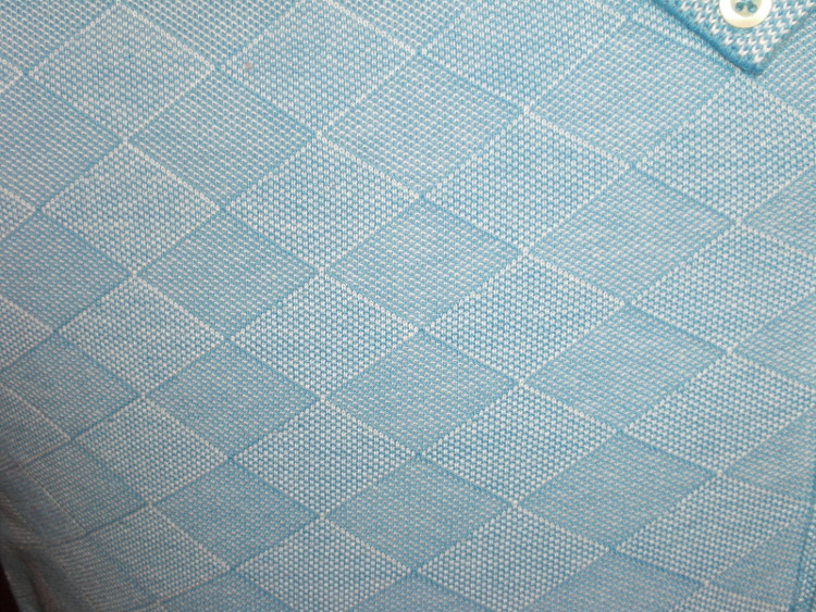 PETER GRIBBY COTTON SHORT SLEEVE BLUE LEAF POLO SHIRT 2XL3XL4XL5XL6XL