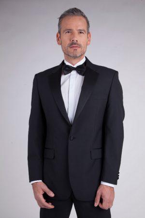 Scott Wool Mix Two Button Evening Suit Jacket Black