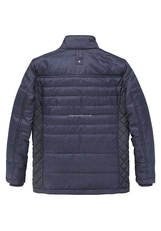 Redpoint Navy Padded Casual Jacket with Red Zip in and out Contrast insert