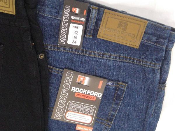 Rockford Jean. 100% Cotton. Comfort Fit.