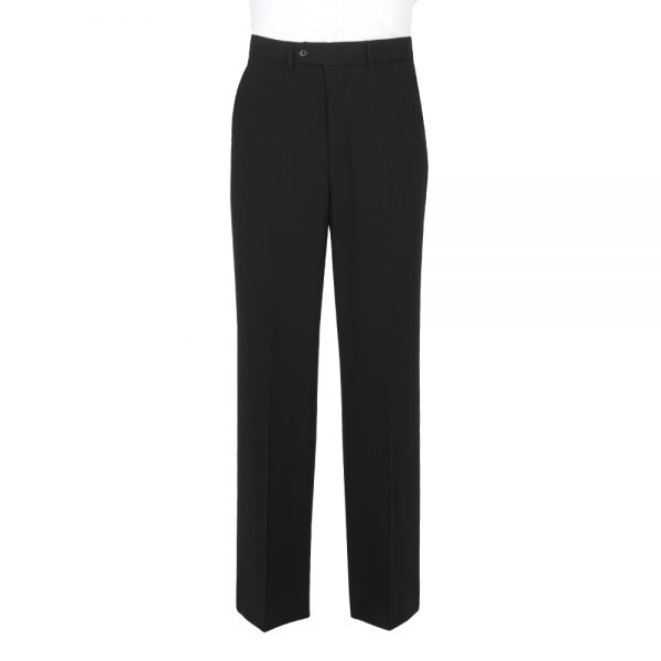 Wool Mixture Suit Trouser Plain Black
