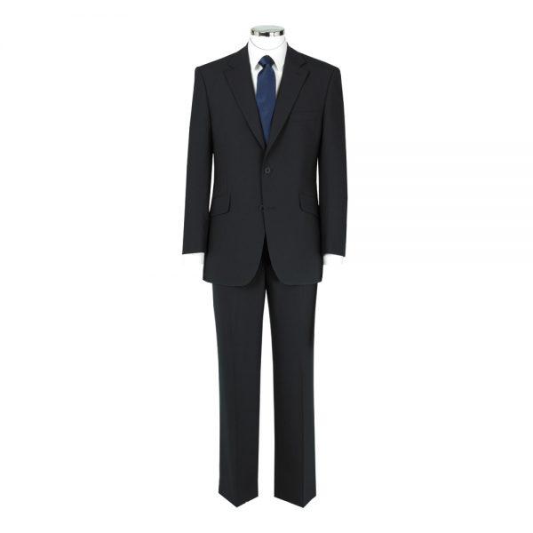 Wool Mixture Suit Waistcoat Plain Navy