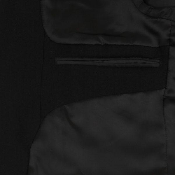 100% Wool Morning Suit Jacket and Waistcoat Black