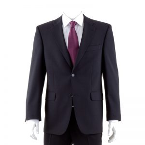 Black Quality Plain Wool Mixture Suit Jacket