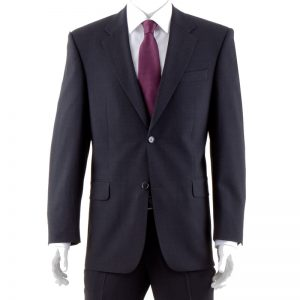 Charcoal Quality Plain Wool Mixture Suit Jacket