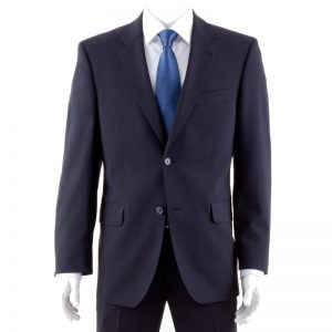 Navy Quality Plain Wool Mixture Suit Jacket