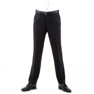 Charcoal Quality Plain Wool Mixture Suit Trouser Plain Front