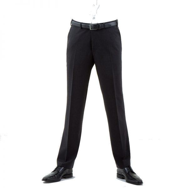 Charcoal Quality Plain Wool Mixture Suit Trouser Plain Front