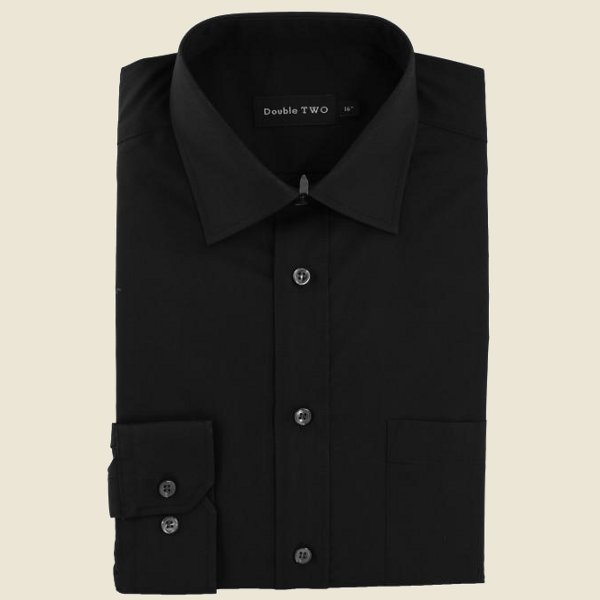 Cotton Rich Classic Shirt Black Long Sleeve