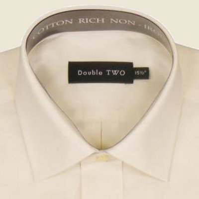 Cotton Rich Classic Shirt Cream Long Sleeve
