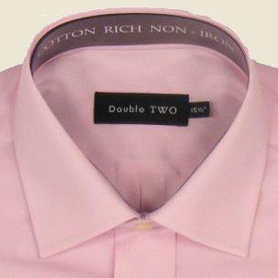 Cotton Rich Classic Shirt Pink Long Sleeve