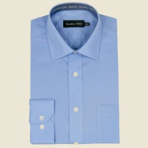 Cotton Rich Classic Shirt Royal Long Sleeve
