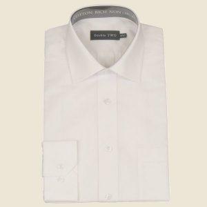 Cotton Rich Classic Shirt White Long Sleeve