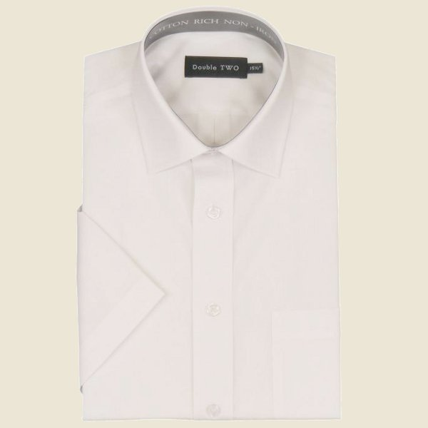 Cotton Rich Classic Shirt White Short Sleeve